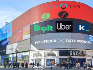 Different ride-hailing apps in London, Uber, Kapten, Bolt and ViaVan.