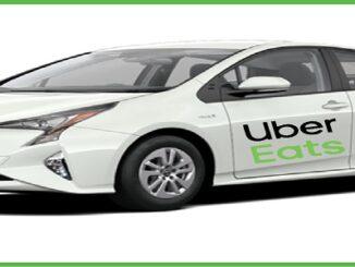 Uber Eats Driver Car