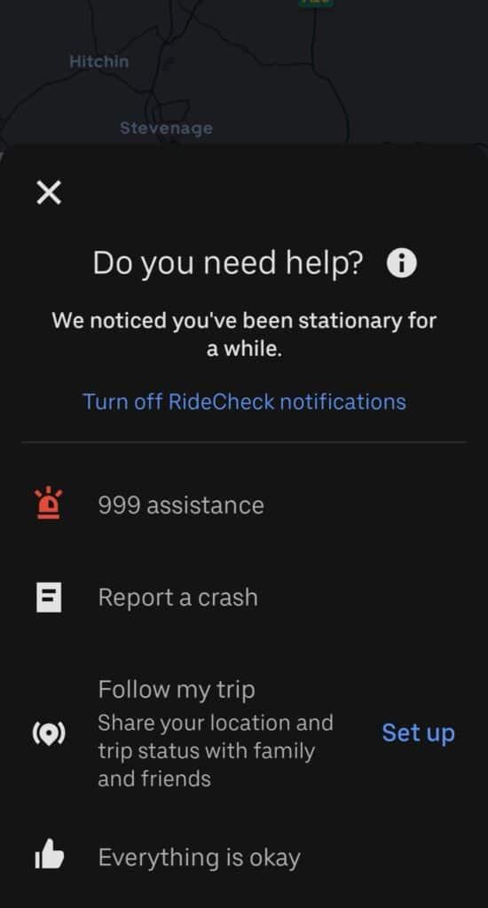 RideCheck Uber